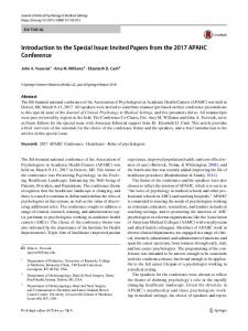 Introduction to the Special Issue: Invited Papers from ... - Springer Link
