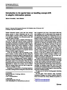 Introduction to the special issue on handling concept ... - Springer Link