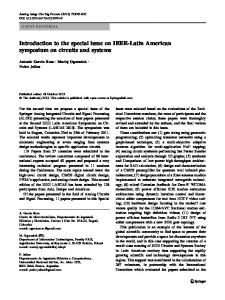 Introduction to the special issue on IEEE-Latin ... - Springer Link