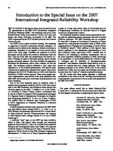 Introduction to the Special Issue on the 2007 ... - IEEE Xplore