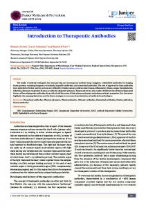 Introduction to Therapeutic Antibodies