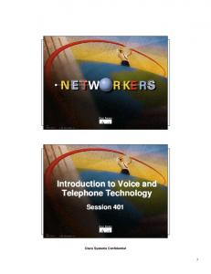 Introduction to Voice and Telephone Technology