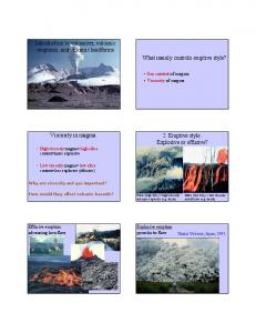 Introduction to volcanoes, volcanic eruptions, and volcanic ...