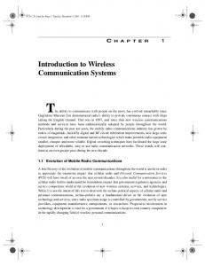 Introduction to Wireless Communication Systems - Pearsoncmg