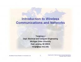 Introduction to Wireless Communications and Networks - College of ...