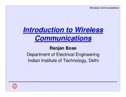 Introduction to Wireless Communications - Computer Science and ...