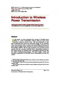 Introduction to Wireless Power Transmission - HCTL Open IJTIR