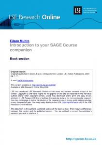 Introduction to your SAGE Course companion - LSE Research Online