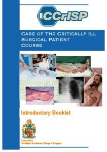 Introductory Booklet - Royal Australasian College of Surgeons