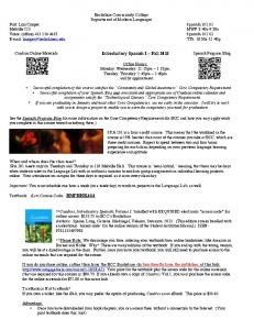 Introductory Spanish I ~ Fall 2013 - Berkshire Community College ...