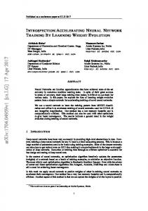Introspection:Accelerating Neural Network Training By Learning ...