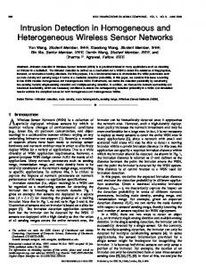 Intrusion Detection in Homogeneous and ... - IEEE Xplore