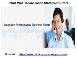 Intuit Mint 2018 Customer Support
