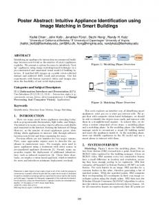 Intuitive Appliance Identification using Image Matching in Smart ...