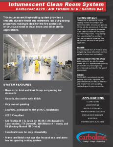 Intumescent Clean Room System Intumescent Clean ... - Carboline