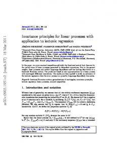 Invariance principles for linear processes with application to ... - arXiv