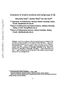 Invariants of wreath products and subgroups of S_6