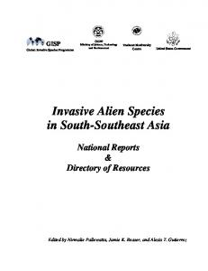 Invasive Alien Species in South-Southeast Asia