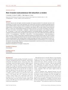 invasive subcutaneous fat reduction - Wiley Online Library