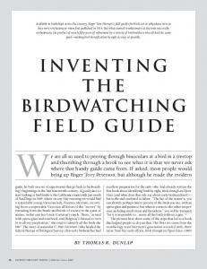 INVENTING THE BIRDWATCHING FIELD GUIDE
