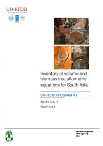 Inventory of volume and biomass tree allometric equations for South ...