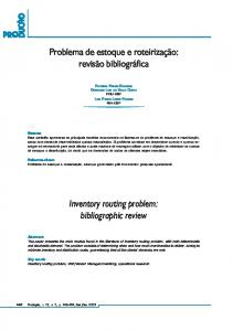 Inventory routing problem - SciELO