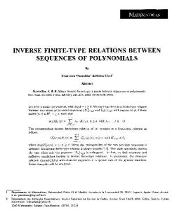 inverse finite-type relations between sequences of