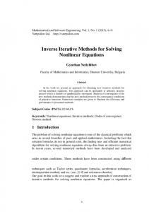 Inverse Iterative Methods for Solving Nonlinear Equations