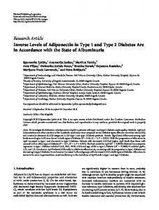 Inverse Levels of Adiponectin in Type 1 and Type 2 Diabetes Are in ...