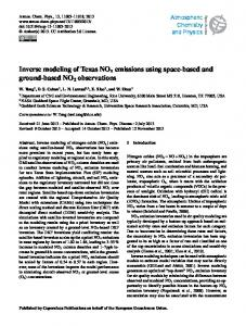 Inverse modeling of Texas NOx emissions using ... - Atmos. Chem. Phys