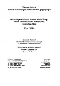 Inverse procedural Street Modelling: from interactive ...