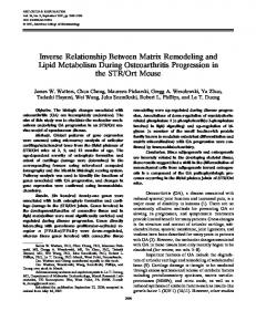 Inverse relationship between matrix remodeling ... - Wiley Online Library
