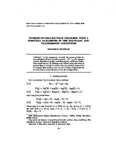INVERSE STURM-LIOUVILLE PROBLEMS WITH A SPECTRAL ...