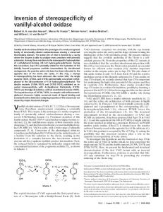 Inversion of stereospecificity of vanillyl-alcohol oxidase