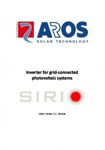 Inverter for grid-connected photovoltaic systems - Aros