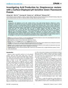 Investigating Acid Production by Streptococcus ... - Semantic Scholar