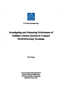 Investigating and Enhancing Performance of Multiple Antenna ...
