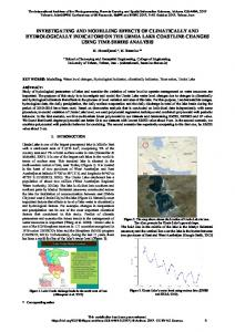 investigating and modelling effects of climatically ... - ISPRS Archives
