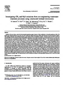 Investigating CH4 and N2O emissions from eco-engineering ...