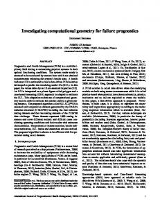 Investigating computational geometry for failure ... - PHM Society
