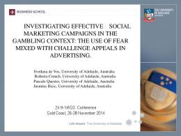 INVESTIGATING EFFECTIVE SOCIAL MARKETING CAMPAIGNS IN ...