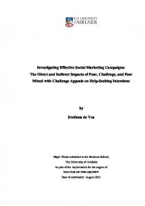 Investigating Effective Social Marketing Campaigns ...