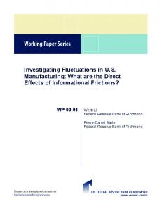 Investigating Fluctuations in US Manufacturing - Federal Reserve ...