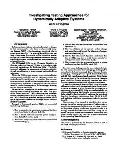 Investigating Testing Approaches for Dynamically ... - Semantic Scholar