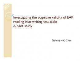 Investigating the cognitive validity of EAP reading-into-writing test ...