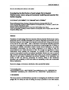 Investigating the distribution of small pelagic fish in Spanish ... - HCMR