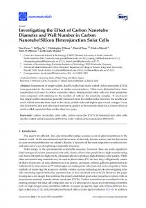 Investigating the Effect of Carbon Nanotube Diameter and Wall ... - MDPI