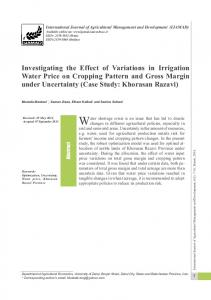 Investigating the Effect of Variations in Irrigation Water Price on ...