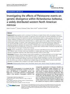 Investigating the effects of Pleistocene events on