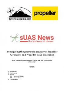 Investigating the geometric accuracy of Propeller